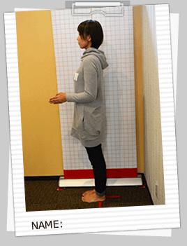 姿勢写真・一人一人専用の説明書やカラダレポートをプレゼント
